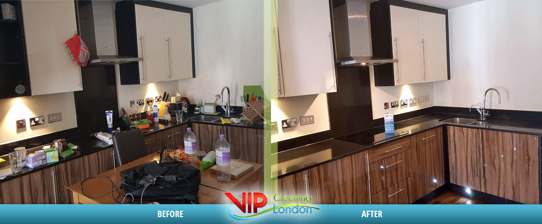 Kitchen cleaning house London - Before After