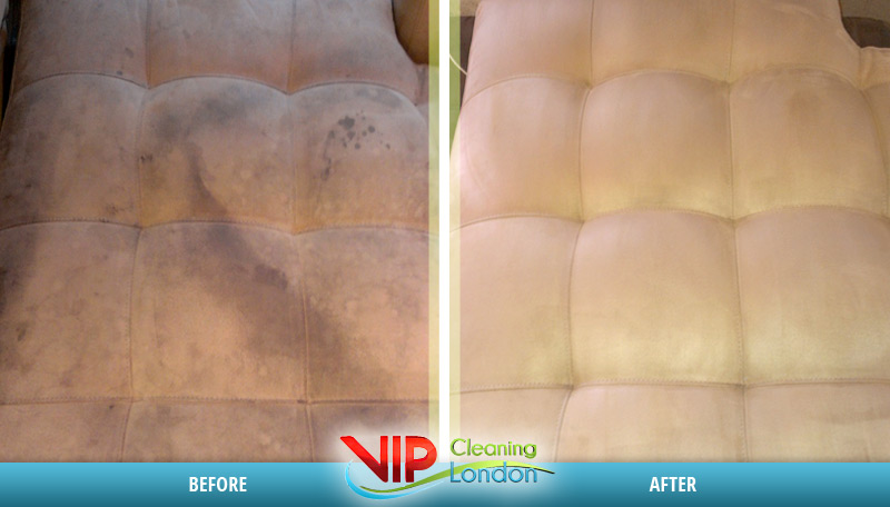 Upholstery cleaning London before - after